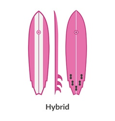 Hybrid Longboard Surfing Desk vector