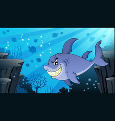 Image with shark theme 2 vector