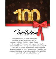Invitation card for 100 years anniversary vector