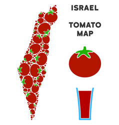 israel map collage of tomato vector image