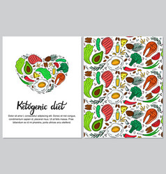 ketogenic diet vertical banner in hand drawn vector image