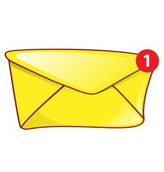 Mail envelope icon mail notification with red vector