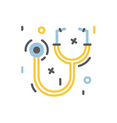 Medical stethoscope or phonendoscope icon for vector