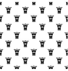 Medieval crown pattern vector