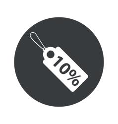 Monochrome round discount icon vector image