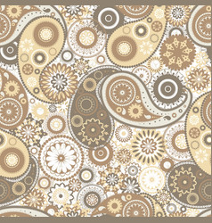 Motley paisley seamless pattern with folk buta vector
