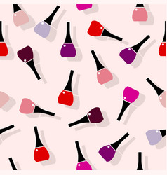 Multi colored nail polish seamless pattern vector