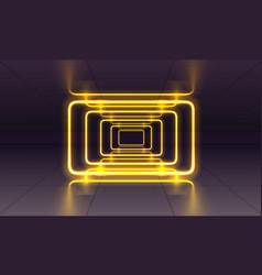 Neon scene laser show on night background vector