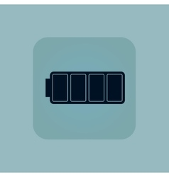 Pale blue full battery icon vector