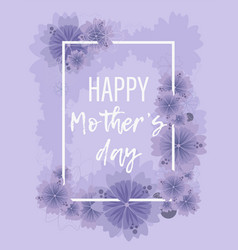 pastel violet floral background for mother s day vector image