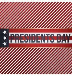 Presidents Day realistic patriotic Banner vector image