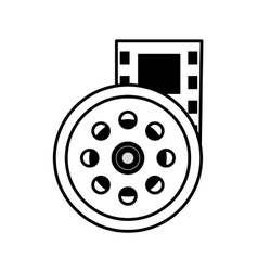 Reel film movie wheel icon outline vector