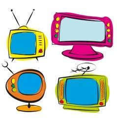 Retro television vector