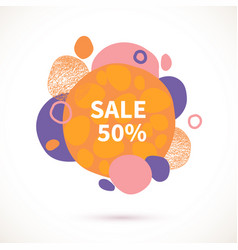 sale-bubbles-orange vector image