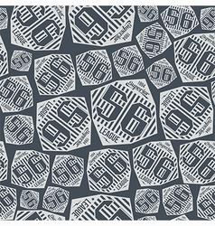 Seamless pattern sport league emblem vector image