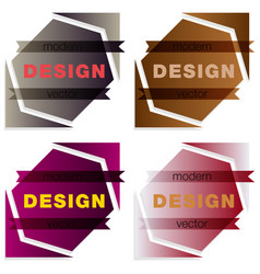 Set abstract colorful triangle dynamic splash vector