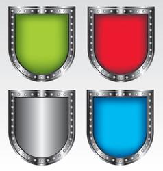 Shields set icon vector image