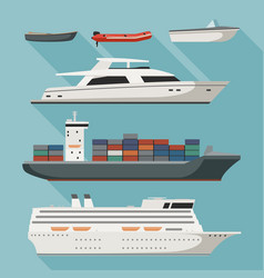 ships and boats vector image