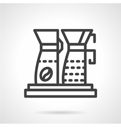 Simple line coffee machine icon vector