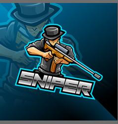Sniper esport mascot logo design vector