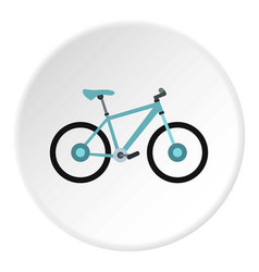 sport bicycle icon circle vector image