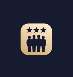 Team evaluation icon vector