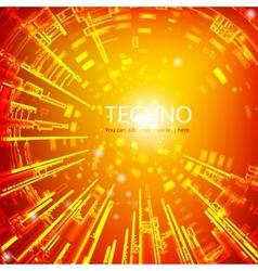 Techno 2 vector image
