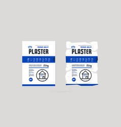 Template label for facade plaster packaging vector