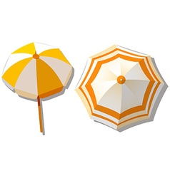 Umbrella from top view vector image