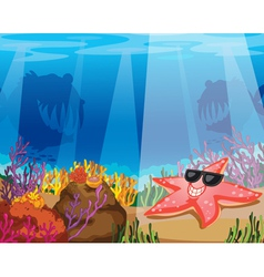 Under sea background vector