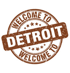 Welcome to detroit vector