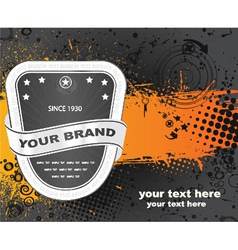 label with grunge vector image