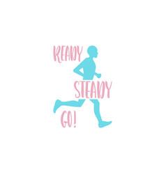 logo running man vector image