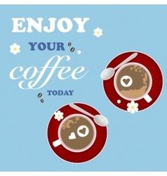 Love Design Coffee Texture Cup Flower Art vector image vector image