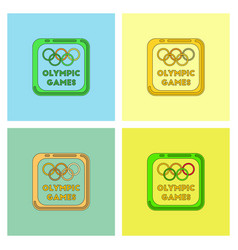 Sign symbol olympics games set vector