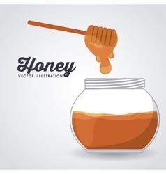 sweet honey design vector image vector image