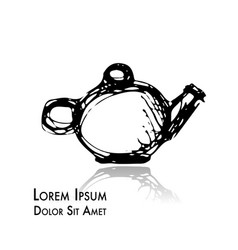 teapot doodle sketch for your design vector image vector image