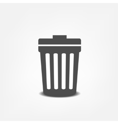 Trash can flat icon vector image vector image