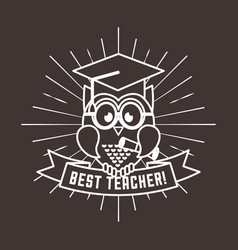 best teacher desig vector image vector image