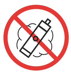 prohibitory sign vaping vector image vector image