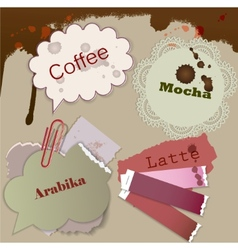 speech coffee element vector image vector image