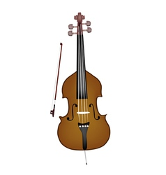 A Beautiful Double Bass on White Background vector image vector image