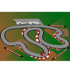 car test track vector image