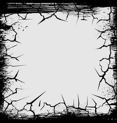 cracks grunge square shape vector image vector image