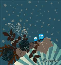 night owls illustration vector image vector image