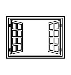 open window frame wooden image vector image vector image