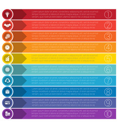 templates infographics from strips for ten vector image