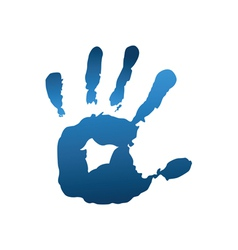 Blue handful vector image vector image
