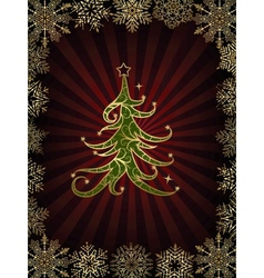 Christmas Tree On A Dark Background vector image vector image