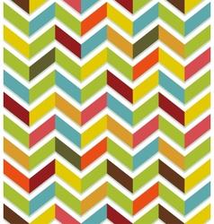 Colorful chevron seamless vector image vector image
